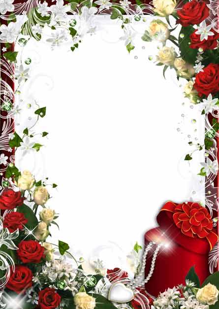 Романтическая открытка валентинка рамка для фото