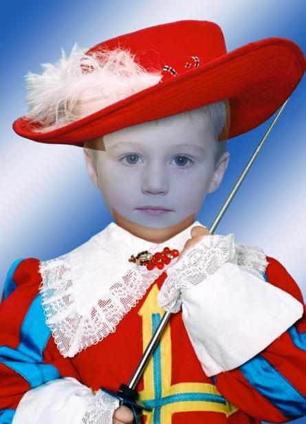 Мушкетер - фотошоп костюм для мальчика