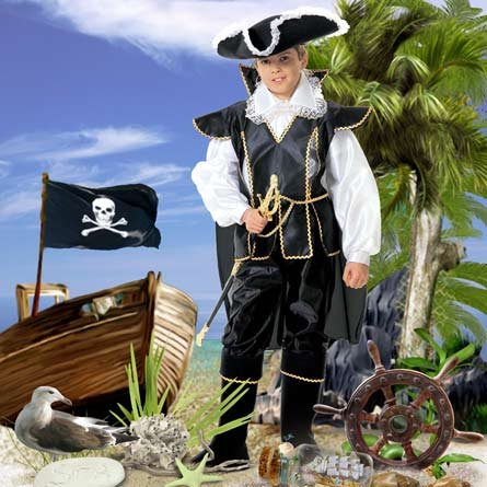 Пират, шаблон, фотошоп, шаблон костюма для фотошопа
