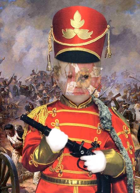 Солдат - виртуальный костюм для мальчика, шаблон для фотошопа