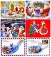 Новогодние открытки с Дедом Морозом скачать