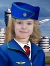 Стюардесса - фотошоп костюм для того девочки