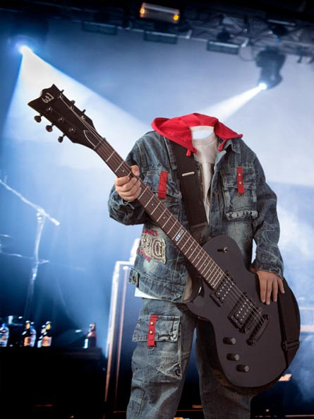 Музыкант, шаблон для Photoshop, костюм для мальчика