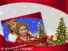 Новогодняя открытка, рамка для фото, шаблон для Photoshop скачать