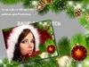 Новогодняя открытка рамка с ёлкой и часами скачать (PSD)
