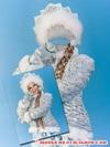 Снегурочка - виртуальный костюм, шаблон для Photoshop скачать бесплатно