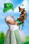 Виртуальный костюм девчушка из собачкой