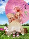 Виртуальный костюм Девочка подина зонтиком