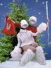 Дед Мороз и Снегурочка - новогодние виртуальные костюмы (PSD)