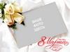 8 марта, открытка - рамка с белыми розами (PSD)