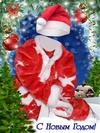 Новогодний виртуальный костюм для мальчика (открытка, PSD)