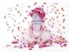 Костюм ради девочки бело-розовый (PSD)