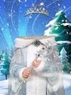 Снежная королева - виртуальный костюм (PSD)